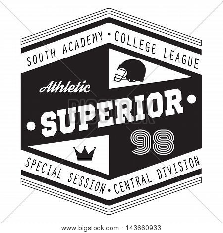 Sport Athletic Superior College Vector Graphics and typography t-shirt design for apparel