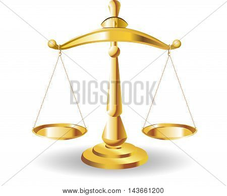 Scales of Justice symbolizing the measure of a cases support and opposition in a court of law. Scales of Justice vector. Illustration Scales of Justice.