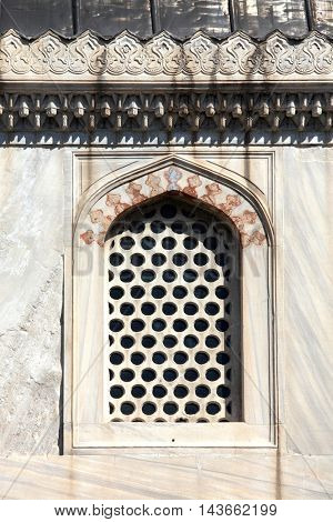 close up shot of old window in Istanbul, Turkey