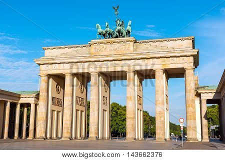 The famous Brandenburger Tor, Berlins most visited landmark