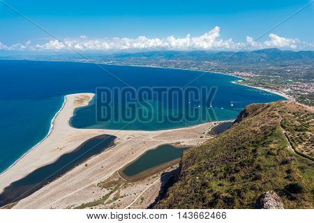 The beach and the lagoons at Capo Tindari, Sicily