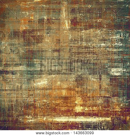 Vintage background, antique grunge backdrop or scratched texture with different color patterns: yellow (beige); brown; blue; red (orange); purple (violet); gray