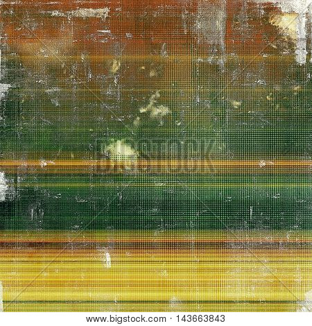 Colorful abstract retro background, aged vintage texture. With different color patterns: yellow (beige); brown; green; red (orange)