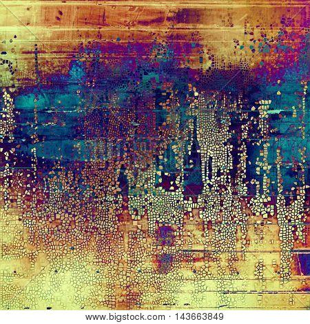 Elegant vintage background, antique texture. Designed grunge template with different color patterns: yellow (beige); brown; blue; red (orange); purple (violet); pink