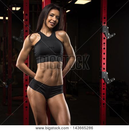 Beautiful Sexy Girl Posing In The Gym