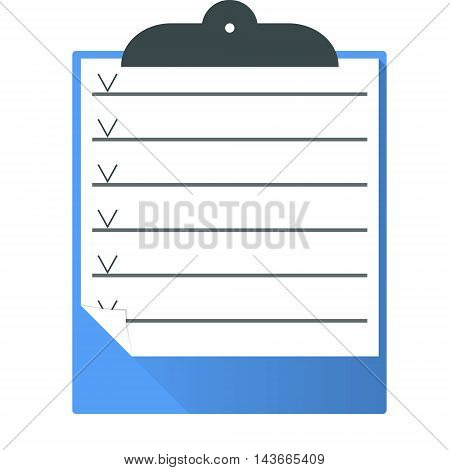 Clipboard.Vector illustration pattern paper clipboard graphic sign