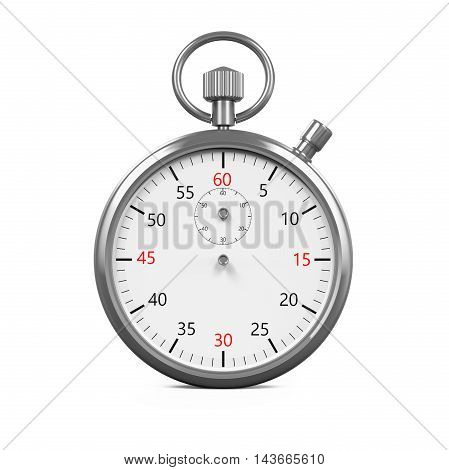 Stopwatch Timer isolated on white background. 3D render