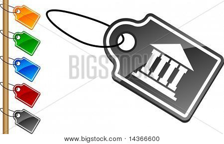 Exchange tag set. Vector illustration.
