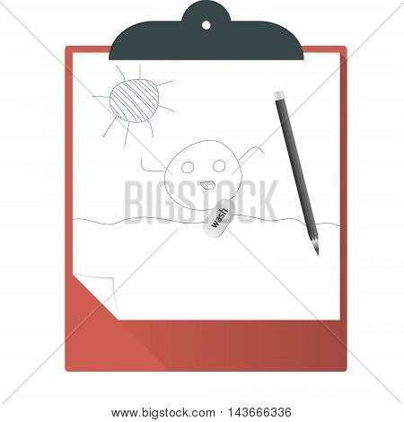 Clipboard.Vector illustration pattern paper clipboard graphic wash