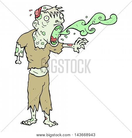 freehand drawn cartoon gross zombie