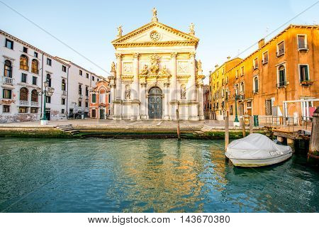 San Stae church on the Gand canal in Venice