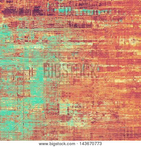 Creative vintage grunge texture or ragged old background for art projects. With different color patterns: yellow (beige); brown; blue; red (orange); purple (violet); pink