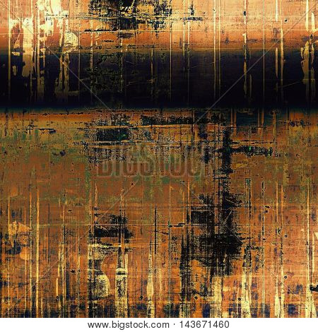 Old grunge vintage background or shabby texture with different color patterns: yellow (beige); brown; black; green; red (orange); purple (violet)