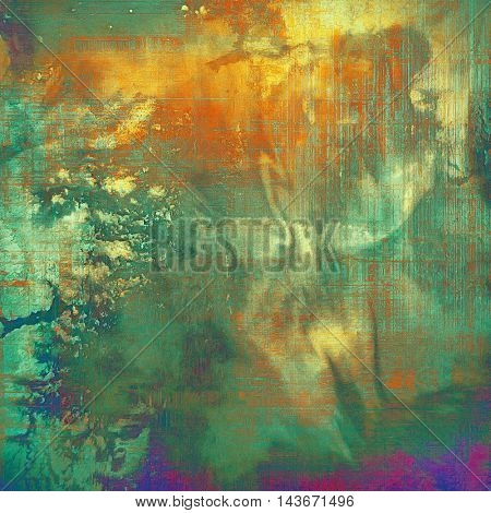 Scratched grunge background or spotted vintage texture. With different color patterns: yellow (beige); green; blue; red (orange); purple (violet)