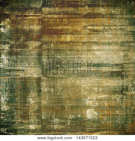Distressed grunge texture, damaged vintage background with different color patterns: yellow (beige); brown; green; gray
