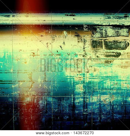 Creative elegant design used as retro background for your art project. With grunge texture and different color patterns: yellow (beige); brown; black; blue; red (orange); cyan