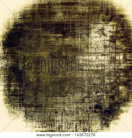 Spherical art grunge texture for creative design or scrap-book. With vintage style decor and different color patterns: yellow (beige); brown; black; gray; white
