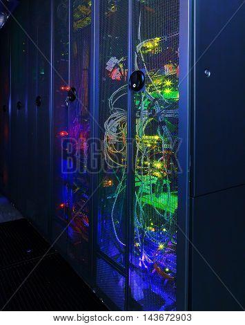 Server rack cluster in the data center