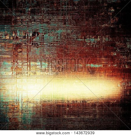 Abstract retro design composition. Stylish grunge background or texture with different color patterns: yellow (beige); brown; black; blue; red (orange)