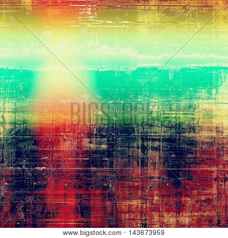 Grunge background or vintage texture in traditional retro style. With different color patterns: yellow (beige); green; blue; red (orange); purple (violet); pink
