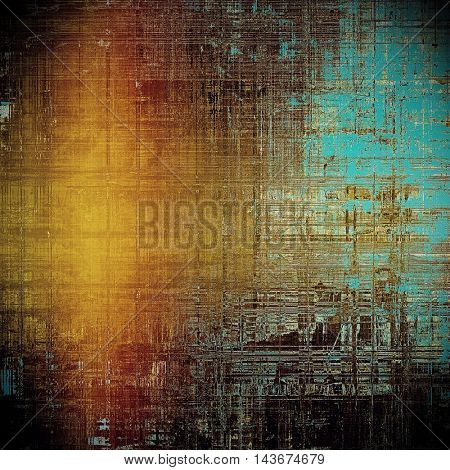 Ancient textured background or shabby backdrop. With different color patterns: yellow (beige); brown; black; blue; red (orange)