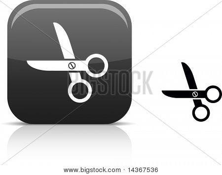 scissors beautiful icon. Vector illustration.