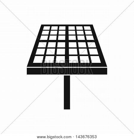 Solar energy panel icon in simple style isolated on white background