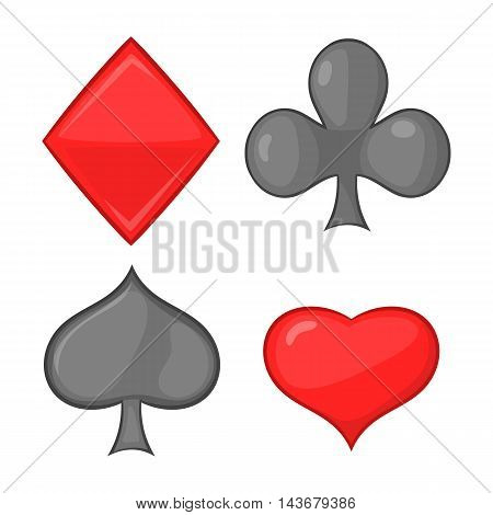 Card suits icon in cartoon style isolated on white background. Game symbol