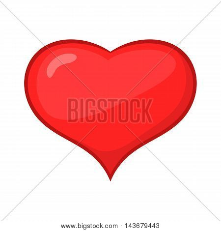 Card suit hearts icon in cartoon style isolated on white background. Game symbol