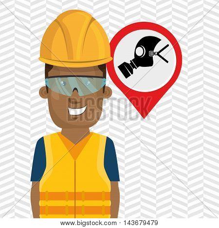 worker protection industrial vector illustration design eps 10