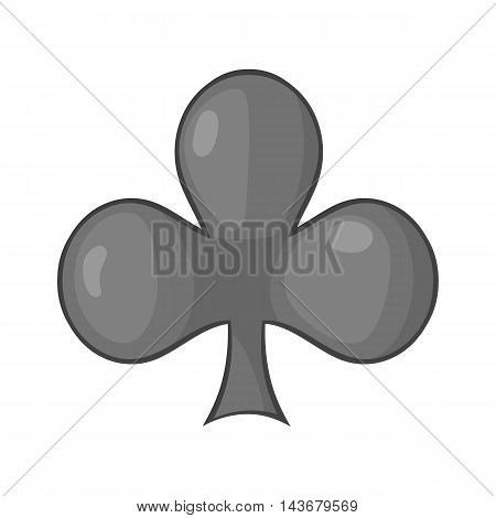 Card suit clubs icon in cartoon style isolated on white background. Game symbol