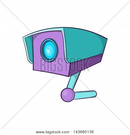 CCTV camera icon in cartoon style isolated on white background. Video surveillance symbol