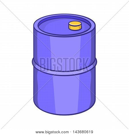 Barrel for gasoline icon in cartoon style isolated on white background. Storage symbol