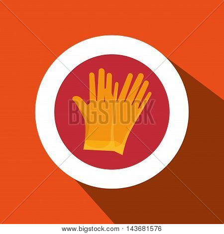 glove protection tool icon vector illustration design