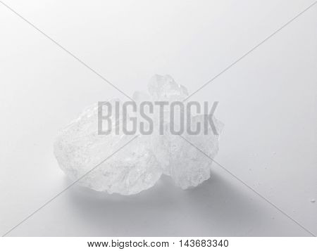 rock sugar at the white background