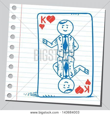 Businessman playing card