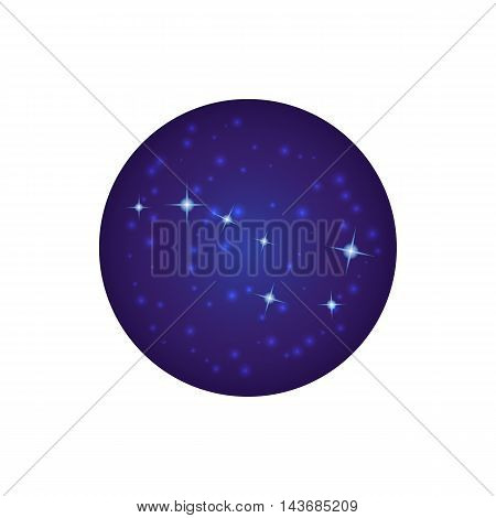 Night sky with stars icon in cartoon style isolated on white background. Space symbol