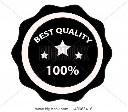 Best quality stamp isolated on white background