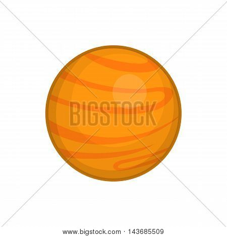 Mars icon in cartoon style isolated on white background. Planet symbol