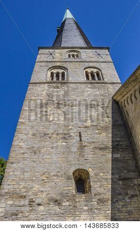 Tower Of The St. Johannis Church In The Center Of Billerbeck