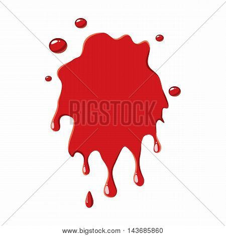 Blood stain icon isolated on white background. Liquid symbol