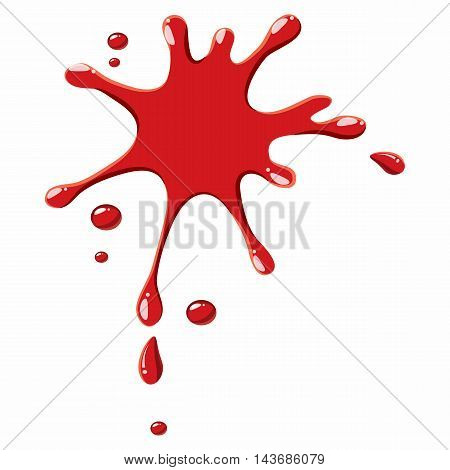 Red drops of blood icon isolated on white background. Liquid symbol