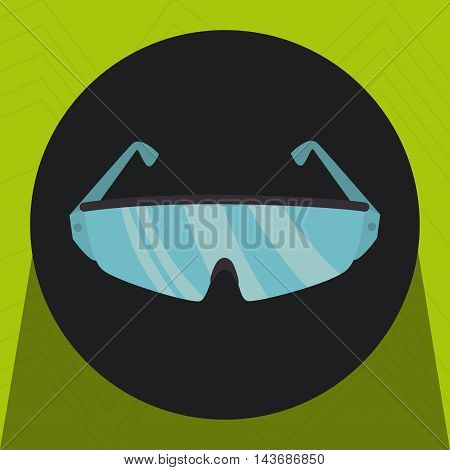 glasses desing protection icon vector illustration design