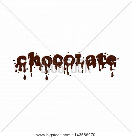 Word chocolate icon isolated on white background. Sweets symbol