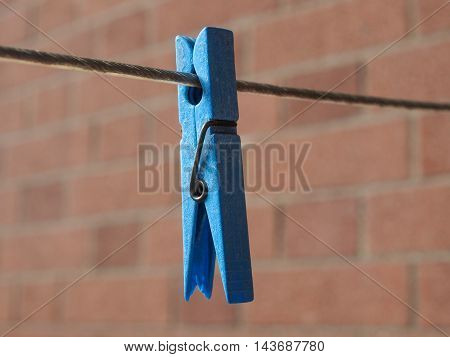 Blue Clothespin Peg