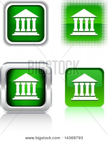 Exchange  square buttons. Vector illustration.