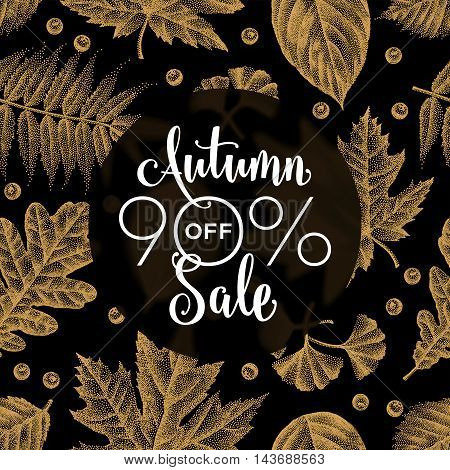 Etching Leaves Sale_09.eps