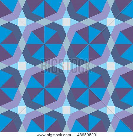 Vector geometric pattern seamless background. Decorative wallpaper.