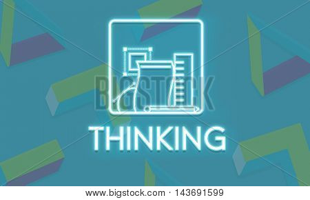 Thinking Brain Ideas Smart Solution Start Up Concept