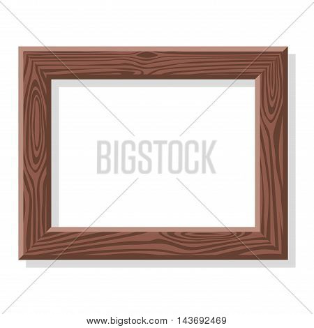 Antique photo frame isolated on white background. Vintage cartoon photo frame picture painting drawing template icon set retro design vector illustration. Stylish wall gallery background.